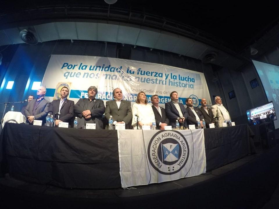 Congreso 107 de FAA en Rosario: «Acá se defiende a la Federación Agraria», dijo Achetoni, reelegido presidente