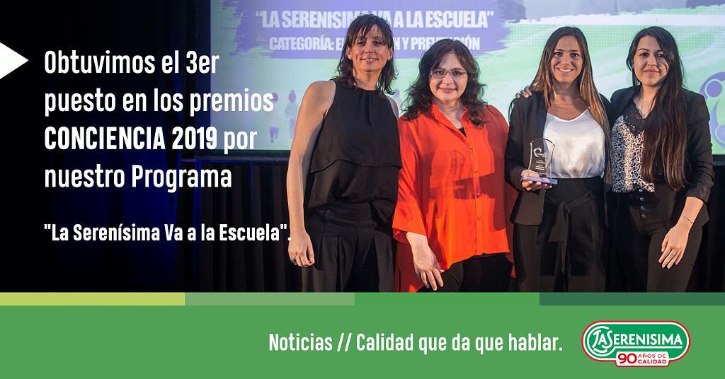 Conciencia 2019 premio campaña «La Serenisima va a la Escuela»