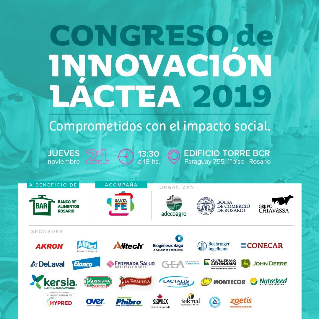 Se realiza el jueves 21 en Rosario el tercer Congreso Innovación Láctea
