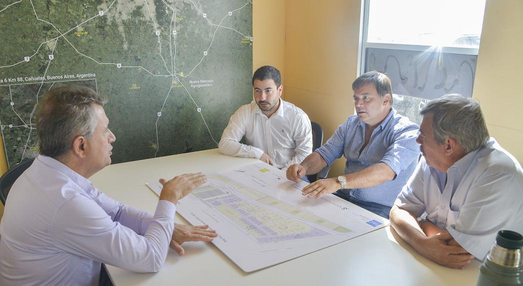 Seguimiento oficial de las obras del nuevo Mercado Agroganadero en Cañuelas