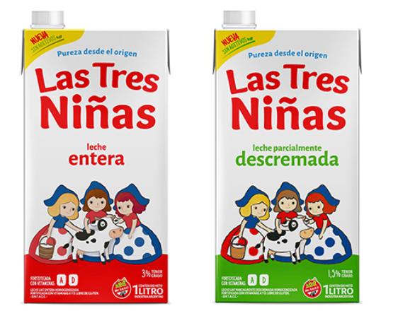 La leche Las Tres Niñas vuelve a las góndolas
