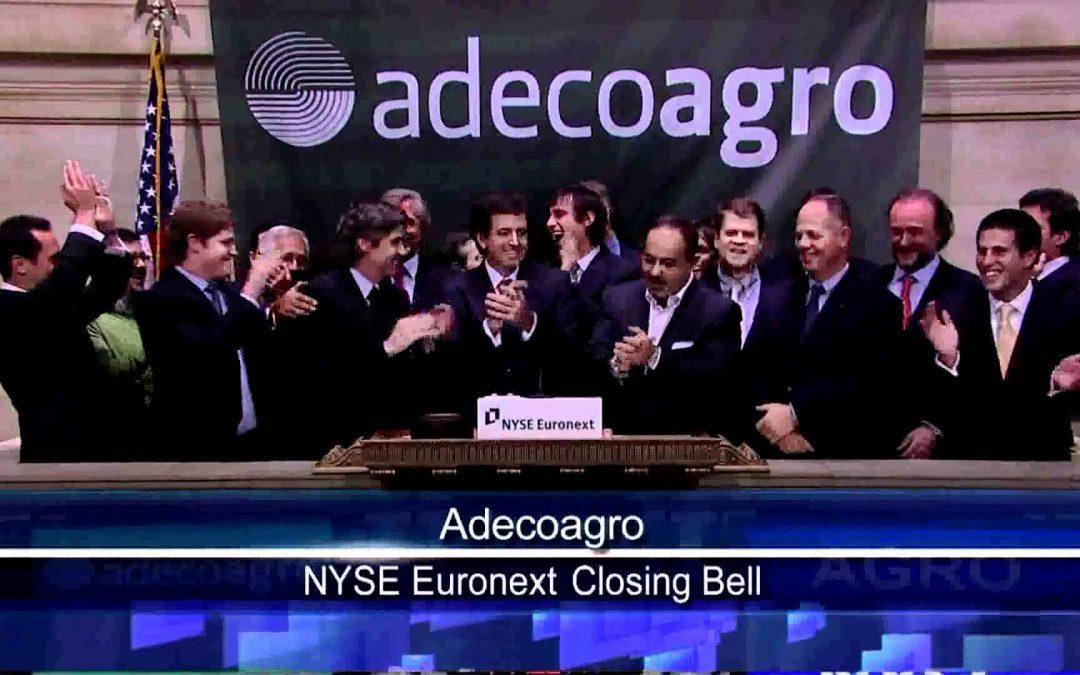Adecoagro recibe prestamo de u$s 100 M de brazo financiero del Banco Mundial