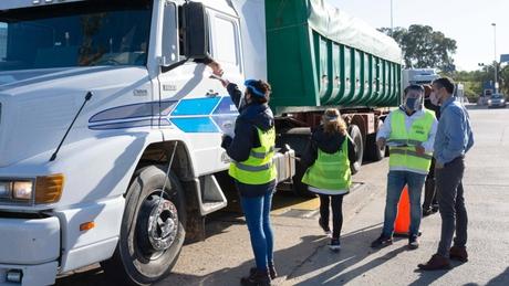 ARBA realiza controles del transporte de granos en rutas bonaerenses