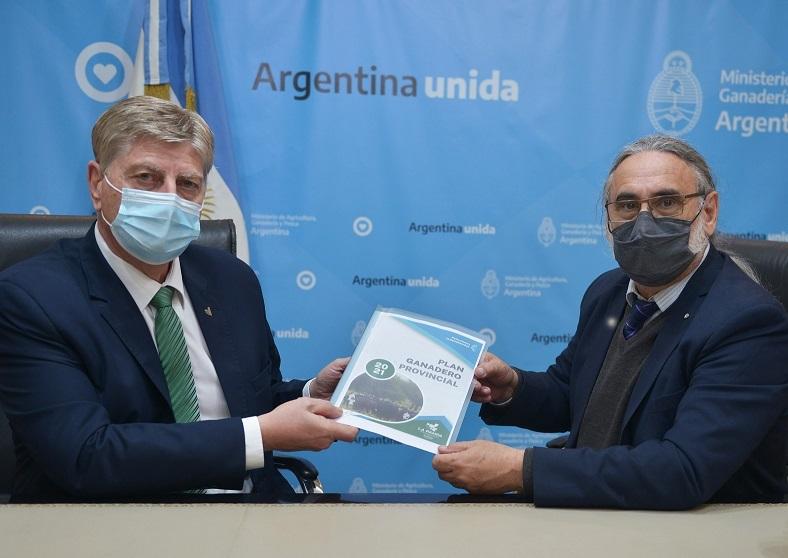 Basterra y Ziliotto acordaron agenda conjunta para promover plan ganadero