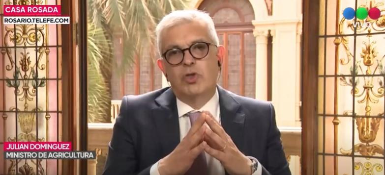 Julián Domínguez aseguró que «no» hay restricción para exportar maíz